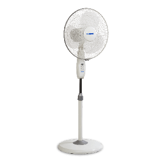 400 mm Mojo Plus White Pedestal Fan
