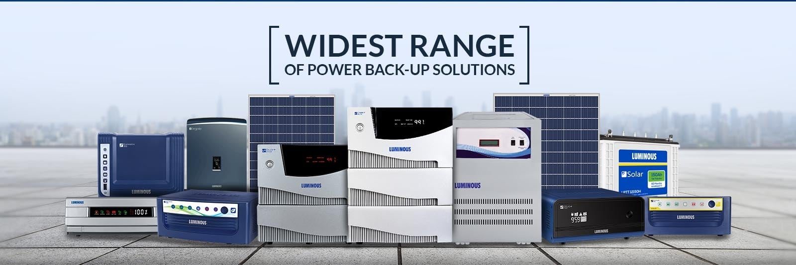 Widest range of power back-up solution