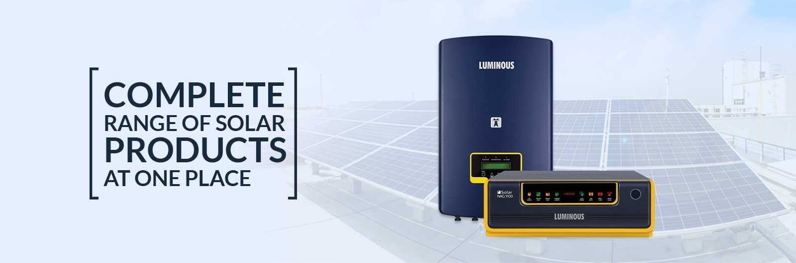 Complete range of solar products at one place